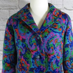 Vintage psychedelic lined blazer